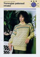 norwegian knitting pattern ebay