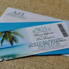 Boarding Pass Save The Date Custom Design Fee Boarding Pass Invitation Or Save The Date
