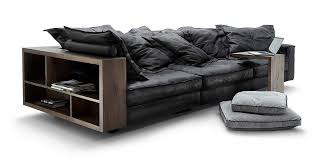 Black Leather Sofas Leather Sofas Collection By Calia Maddalena Italy