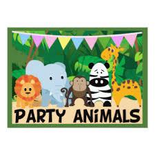 jungle animals birthday party invitations u0026 announcements zazzle