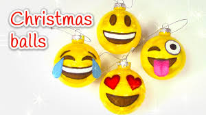 diy christmas crafts emojis christmas balls innova crafts youtube