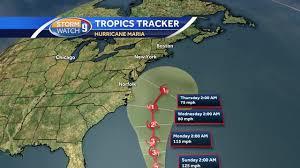 Hurricane Tracking Map Hurricane Maria Moving Northward Current Track Keeps It Off Coast