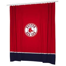 Boston Red Sox Home Decor by Amazon Com Mlb Boston Red Sox Shower Curtain Baseball Team Logo