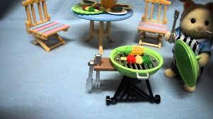 Sylvanian Families Garden - sylvanian families garden bbq set youtube