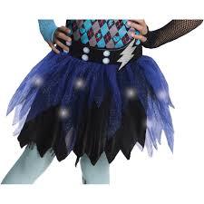 Monster High Frankie Stein Halloween Costume by Monster High Frankie Stein Light Up Child Dress Up Tutu Walmart Com