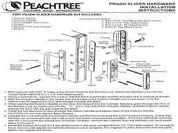 Barn Door Hardware Installation Peachtree Prado Sliding Door Hardware Installation Instructions