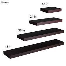 beautiful floating bookshelves on manhattan black wooden floating