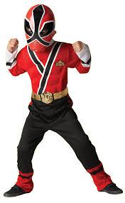 deluxe muscle red power ranger samurai fancy dress boys kid