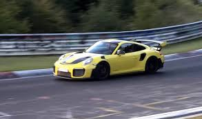 porsche gt3 rs yellow 2018 porsche 911 gt2 rs runs a reported nurburgring time of under