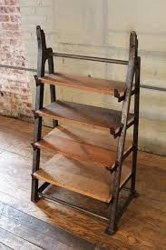 vintage industrial custom factory cast iron wood shelving shelf