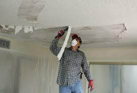 Popcorn Ceilings Asbestos by Taking Down A Popcorn Ceiling Teamtag