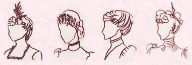 sketches of hair mid victorian hairstyles and hats 1870 1900