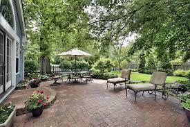 home decor brick patio design for new impression home