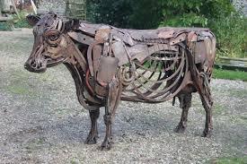 lifesize metal cow search backyard ideas i can do