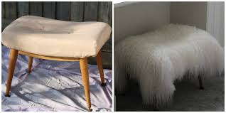 upcycling diy mongolian fur stool for under 100 sleek chic