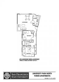 University Floor Plans University Park North Sf State Housing