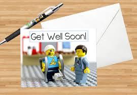 kids get well soon get well soon lego card instant pdf jpg print