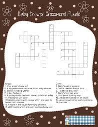 Free Baby Shower Scramble Games - free printable baby shower crossword puzzle game