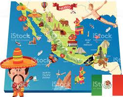 Map Mexico by Mexico Cartoon Map Stock Vector Art 466175506 Istock