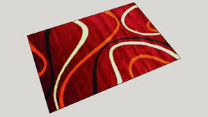 tappeto moderno rosso tappeto moderno rosso 3d warehouse