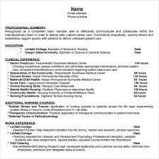 Sample Student Nurse Resume by Student Nurse Resume Template