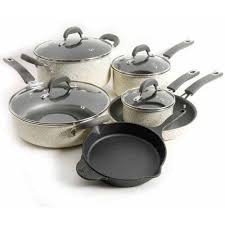 black friday deals on pots and pans the pioneer woman vintage speckle 10 piece non stick pre seasoned