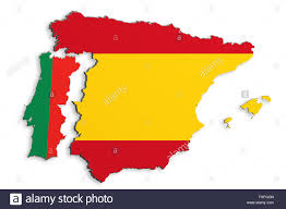 Map Of Spain And Portugal by 3d Rendering Of Bright Colorful Iberian Peninsula Map Isolated In