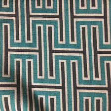 Geometric Drapery Fabric Muriel Geometric Pattern Cut Velvet Upholstery Fabric By The Yard