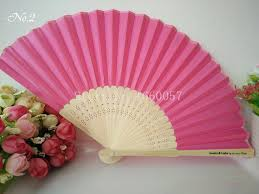 silk fans 100pcs personalized wedding favors and gifts for guest silk fan