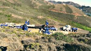 bigge transports historic gun barrel at rodeo beach california