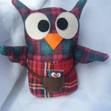 angus the scottish owl felt ornament ooak folksy