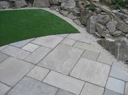 Reclaimed Patio Slabs Tumbled Raj Green Indian Stone Patio Indian Sandstone In Raj