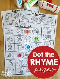 free pictures and template to make your own rhyme matching