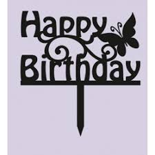 acrylic happy birthday butterfly cake topper bakers boutique