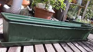 balkon blumentopf 1m pflanzkasten blumentopf kisten trog samt untersetzer für
