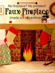 How To Make Fake Fireplace by Faux Fireplace How To Make A Fake Fireplace With Cardboard