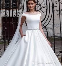 simple but wedding dresses discount 2016 modern satin wedding dress a line the