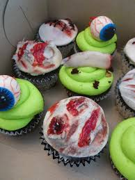 some gruesome halloween cupcakes for a children u0027s party these