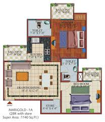 Garden Apartment Floor Plans Svp Gulmohur Garden In Raj Nagar Extension Ghaziabad Project