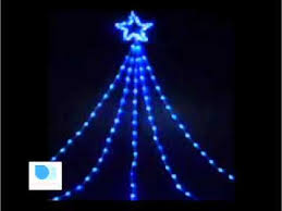 large led shooting light blue white lights