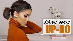 easy short hair updo youtube