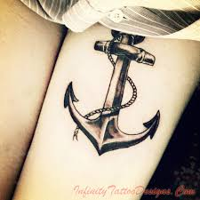 nice anchor tattoo on muscles for guys in 2017 real photo