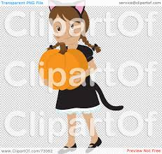 halloween cat png royalty free rf clipart illustration of a happy white