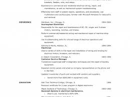 Electrical Resume Sample Electrician Resume