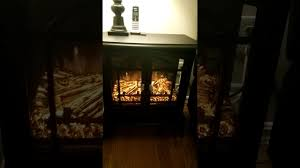 hampton bay legacy electric stove fireplace heater youtube