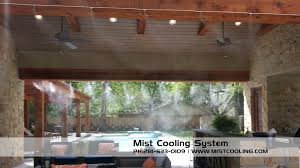 Patio Misting System Diy by Outdoor Misting Systems Mist Cooling Blog