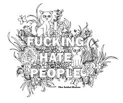 i fucking people coloring page by by theartfulmaker k