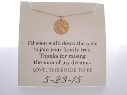 Wedding Gift Necklace Mother Of The Groom Necklace Mother Of The By Wearablewhispers