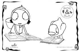 sarah u0026 duck reading u2013 sarah u0026 duck coloring pages kids