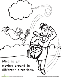 color and learn wind worksheet education com